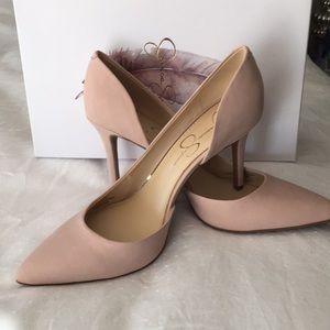 NWOT. Jessica's Simpson pink blush pumps
